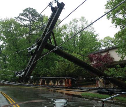 Summer storm damage
