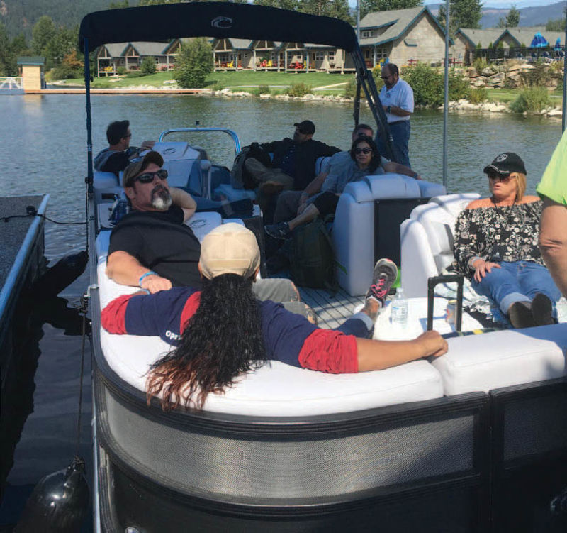 Veterans enjoy a relaxing boat ride during last year's Operation Second Chance event.