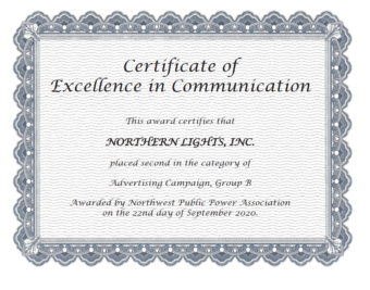 Certificate of Excellence in Communication