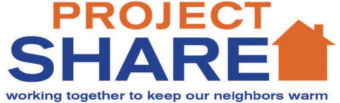 Project Share logo, working together to keep our neighbors warm